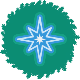 christmas, holiday, star, wreath, xmas icon