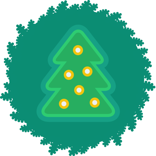 christmas, tree, wreath, xmas icon