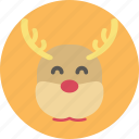 animal, christmas, deer, santa, santa clause icon