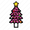 christmash, decoration, holiday, tree, year icon