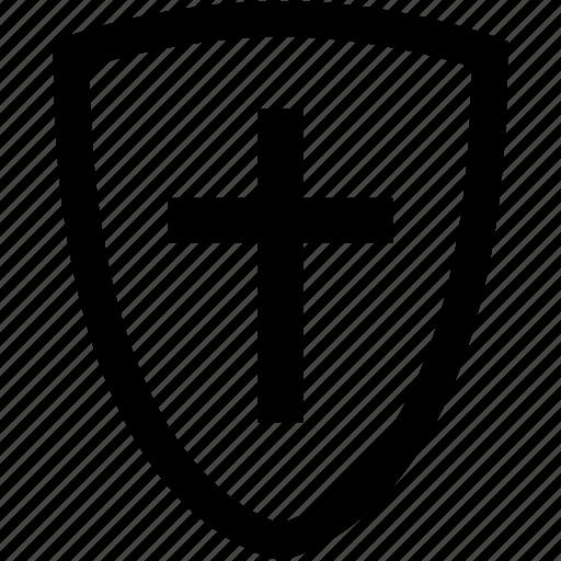 badge, christian, cross, crucify, god, jesus, religion icon
