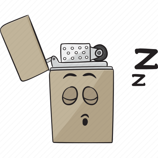 cartoon, cigarette, emoji, lighter, smiley icon