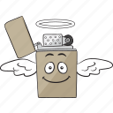 cartoon, cigarette, emoji, lighter, smiley