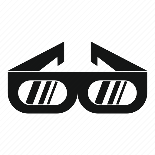 cinema, entertainment, film, glasses, illusion, movie icon