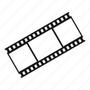 film, filmstrip, frames, movie, negative, strip, video icon