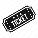 cinema, entertainment, entry, festival, film, movie, ticket icon