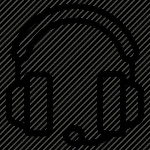 customer services, earphones, headphones, headset, music equipment, output device icon