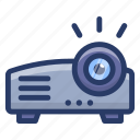 movie projector, multimedia, ppt, projection, slide projection, video projector device icon