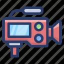 movie camcorder, professional movie camera, video cam, video camera, video recorder icon