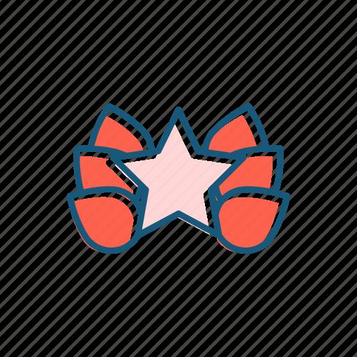 cinema, festival, line, star, thin icon
