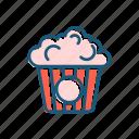 cinema, film, food, line, popcorn, thin