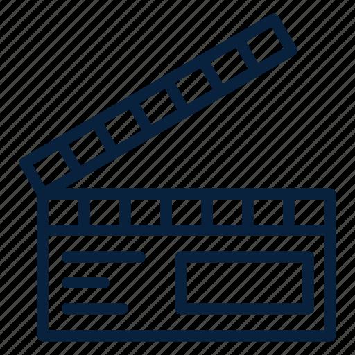 cinema, clap, movie, multimedia, video icon