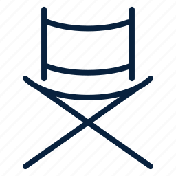 chair, cinema, director, movie, multimedia, video icon