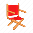 cartoon, chair, design, directors, interior, seat, sign icon