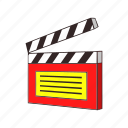 cut, display, punch, sign, numbers, cartoon, clapperboard icon