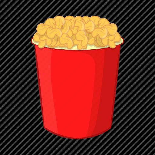 cartoon, crispy, eat, food, illustration, popcorn, sign icon