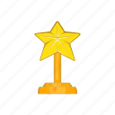 emblem, success, gold, award, sign, star, cartoon icon