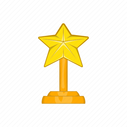 award, cartoon, emblem, gold, sign, star, success icon