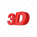 cartoon, label, sign, technology, three-dimensional, video icon
