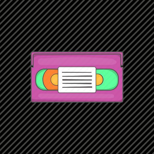 assette, cartoon, cassette, movie, sign, tape, video icon