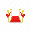 award, carpet, cartoon, event, illustration, red, sign icon