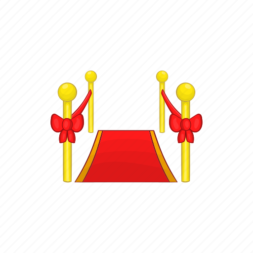 award, carpet, cartoon, event, illustration, red, sign icon