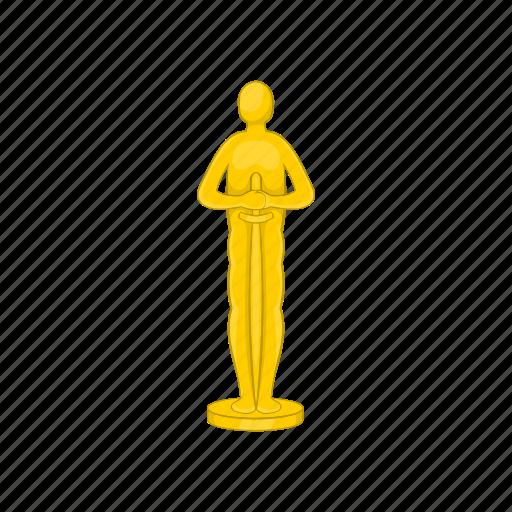 award, cartoon, emblem, gold, movie, sign, success icon