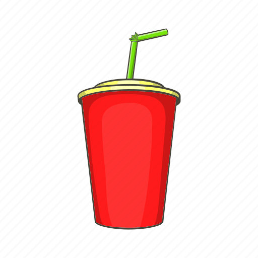 alcohol, cartoon, cup, drink, plastic, sign, straw icon
