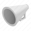 announce, announcement, broadcast, bullhorn, communication, isometric, speaker icon