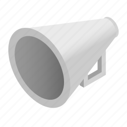 announce, announcement, broadcast, bullhorn, communication, isometric, speaker icon