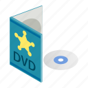 blank, box, case, cd, disc, dvd, isometric icon