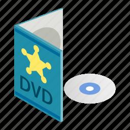blank, box, case, cd, disc, dvd, isometric icon