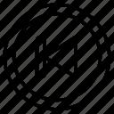 skip, music, player, video, arrow