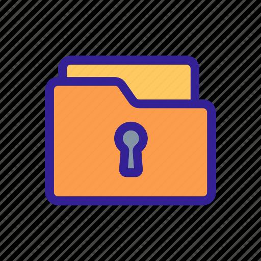 close, folder, guard, lock, safe icon