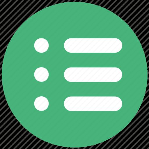 extension, files, list, menu, sheet icon