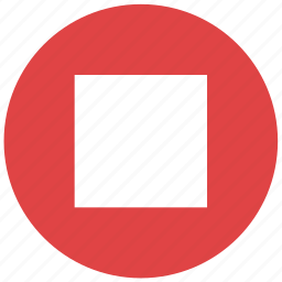 media, multimedia, player, stop, stop button icon