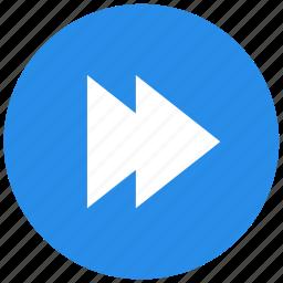 fast forward, forward, media, multimedia, next, player icon