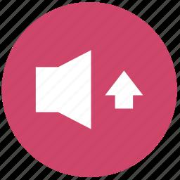 audio, icrease volume, media, player, sound, volume icon