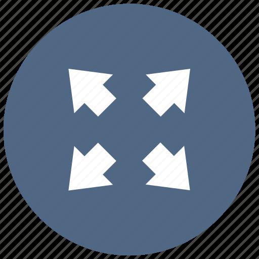 arrow, expand, fullscreen, maximize, media, multimedia, player icon
