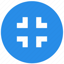 buttons, minimize, multimedia, screen, shrink icon