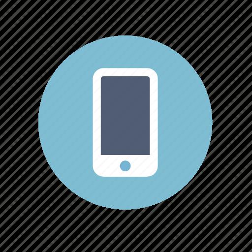 circle, mobile, phone icon