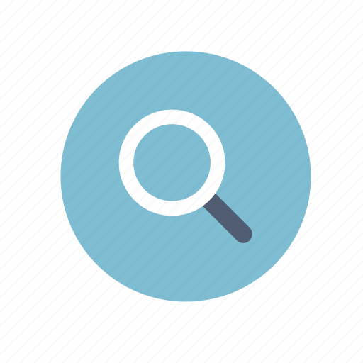 circle, magnifying glass, search, zoom icon