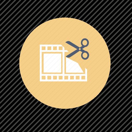 cut, edit, video icon