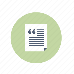 comment, document, file, quote icon