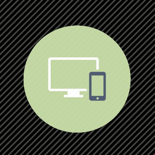 computer, devides, phone, responsive icon