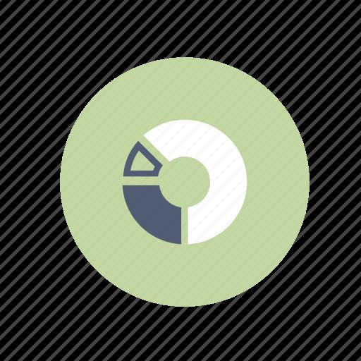 chart, circle, graph, pie icon