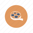 film, movie, reel icon