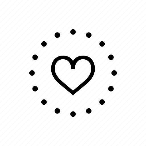 Dotted, heart, love, sign icon - Download on Iconfinder