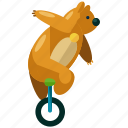 animal, bear, carnival, circus, festival, show icon