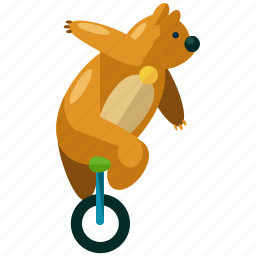 animal, bear, carnival, circus, festival, show icon